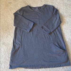 Eileen Fisher Jersey Knit Pocket Top